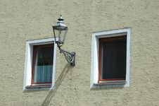 Free Two Windows With Street Lamp Royalty Free Stock Photo - 8324735