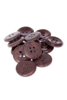Pile Of Brown Buttons Royalty Free Stock Photo