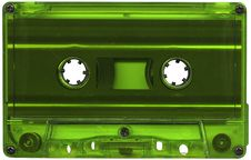 Free Green Cassette Tape Stock Photography - 8325132