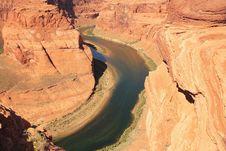 Free Horseshoe Band, Meander Colorado River, Arizona Stock Photos - 8325313