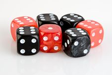 Free Black And Red Dices Royalty Free Stock Photos - 8325668