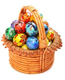 Free Easter Eggs In Wicker Basket Royalty Free Stock Photo - 8325905