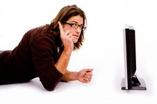 Free Side Pose Of Man Playing Videogame Royalty Free Stock Photography - 8326377