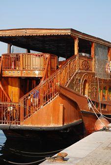 Free Floating Restaurant At Dubai Creek Royalty Free Stock Photography - 8326867