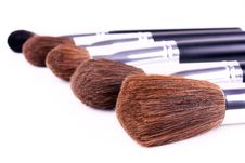 Free Five Brushes For Makeup Royalty Free Stock Images - 8326939
