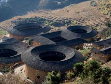 Fujian Tulou-special Architecture Of China Stock Photo