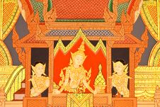 Free Details Of Thai Traditional Style Church Painting. Royalty Free Stock Photography - 8327357