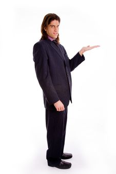 Free Side View Of Standing Successful Businessman Stock Images - 8327724