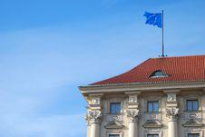 Building With European Union Flag Royalty Free Stock Photos