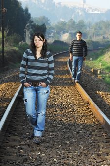Free Walking On Railway Tracks Stock Image - 8328301