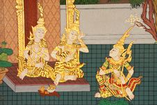 Free Details Of Thai Traditional Style Church Painting. Royalty Free Stock Images - 8328329