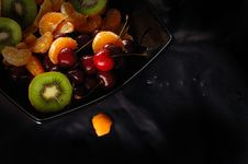 Free Fresh Juicy Fruits On A Plate Royalty Free Stock Image - 8328446