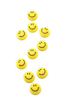 Dollar Sign Made Of Yellow Smileys Royalty Free Stock Photography
