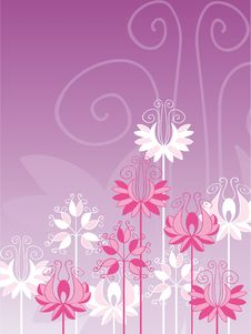 Free Flowers On Violet Background Royalty Free Stock Photo - 8329225