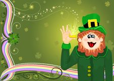 Free Saint Patrick S Magic Leprechaun With Golden Coin Stock Images - 8329704