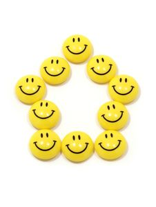 Free Symbol Of A House Made Of Yellow Smileys Stock Photo - 8329840