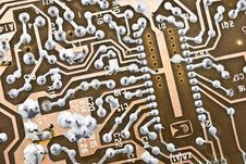 Free Electronic Circuit Plate Stock Photo - 8329880