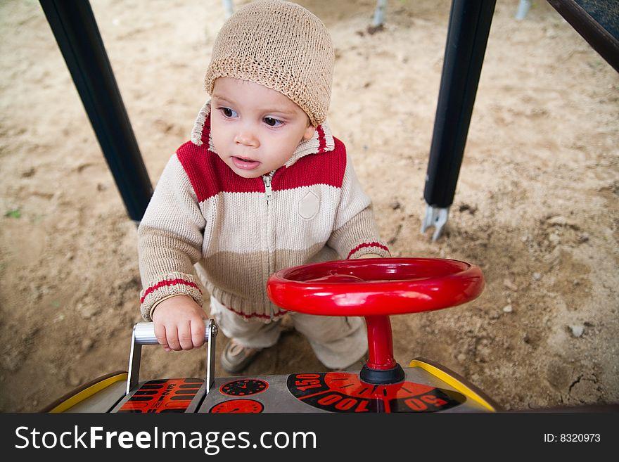 Child on playground