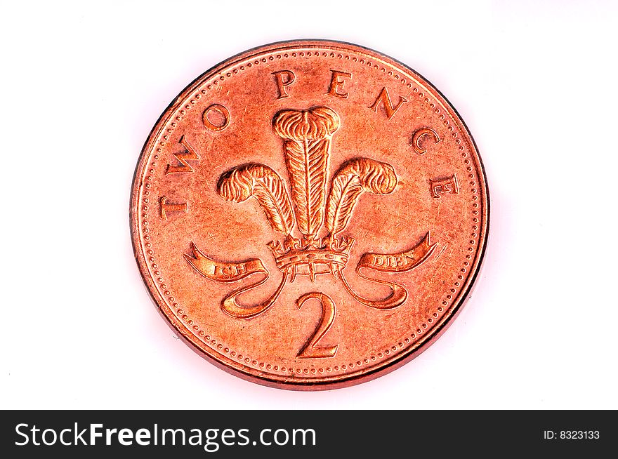 Two Pence Coin Free Stock Images Photos 8323133