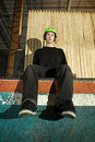 Free Skateboarder Without His Board On Ramp Royalty Free Stock Photos - 8337318