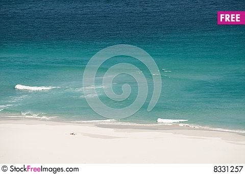 Free Recreation On Lonely Beach Royalty Free Stock Photography - 8331257
