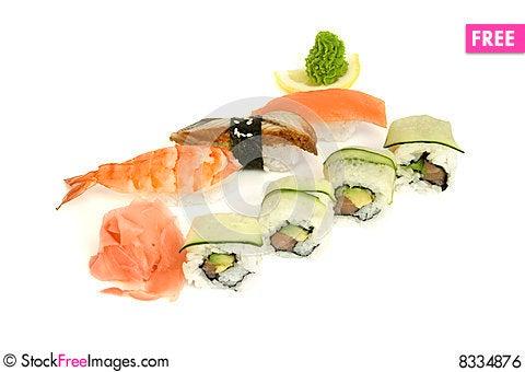 Free Assortment Of Sushi Royalty Free Stock Image - 8334876
