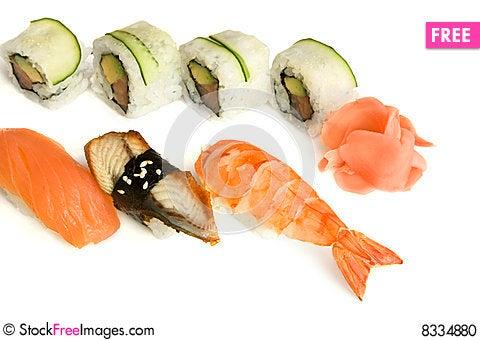 Free Assortment Of Sushi Stock Photo - 8334880