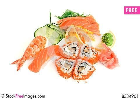 Free Assortment Of Sushi Stock Image - 8334901