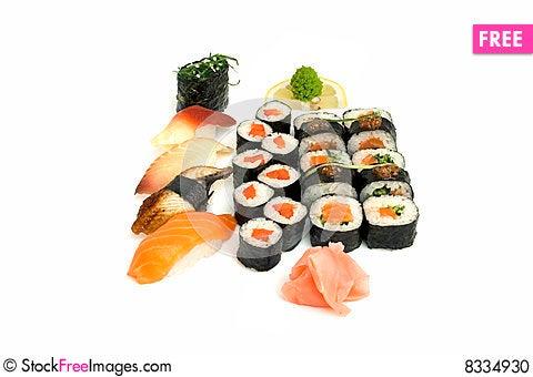 Free Assortment Of Sushi Stock Photo - 8334930