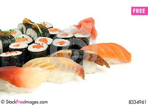 Free Assortment Of Sushi Stock Image - 8334961