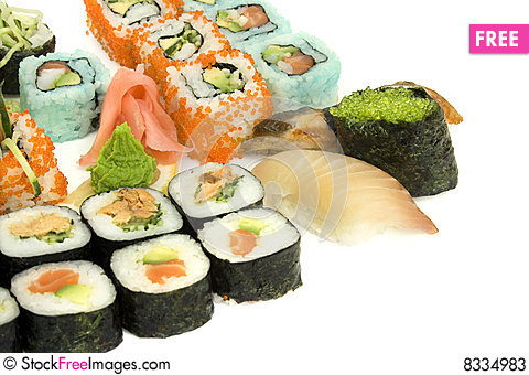 Free Assortment Of Sushi Stock Photos - 8334983