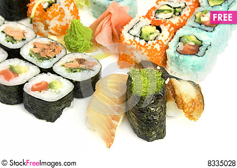 Free Assortment Of Sushi Royalty Free Stock Photos - 8335028