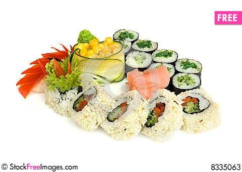 Free Assortment Of Sushi Stock Photos - 8335063