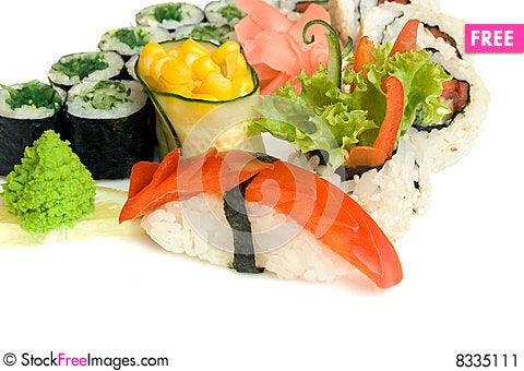 Free Assortment Of Sushi Stock Image - 8335111