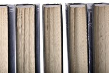 Row Of Old Leather-bound Books Stock Images