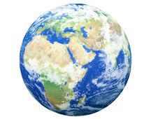 Free Earth Model: Europe View Royalty Free Stock Image - 8330366