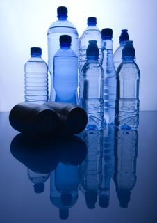 Bottles And Tins Royalty Free Stock Images