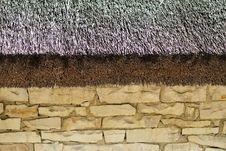 Free Thatched Roof And Stone Wall Royalty Free Stock Photos - 8330718