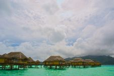 Free Over Water Bungalow 4 Stock Image - 8331811