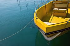 Moored Boat Royalty Free Stock Photos