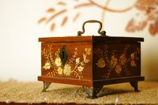 Free Antique Trinket Box With Gold Inlays Stock Photo - 8331940