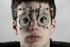 Free Optometrist Exam Stock Images - 8332404