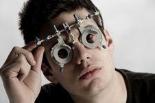 Free Optometrist Exam Stock Photography - 8332432