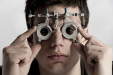Optometrist Exam Royalty Free Stock Photo