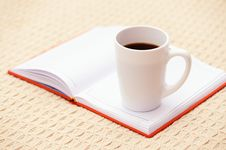 Coffee And Organizer Stock Photos