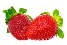 Free Two Delicious Strawberries Royalty Free Stock Images - 8332639