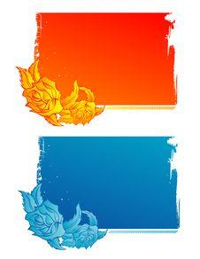 Free Flower Banner Set Stock Image - 8332671