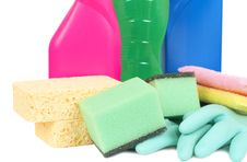 Free Variety Of Cleaning Products Stock Photography - 8333052