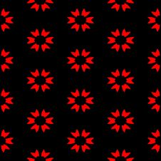 Red Flower Pattern Royalty Free Stock Photography