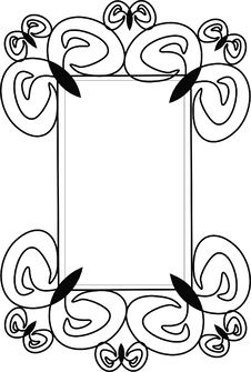 Free Victorian Curl Frame Stock Photography - 8334472